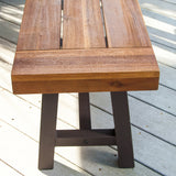 Bowman Outdoor Modern Industrial 3 Piece Acacia Wood Picnic Dining Set with Benches, Sandblasted Teak