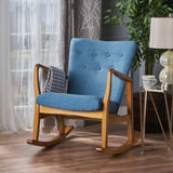 Collin Mid Century Fabric Rocking Chair