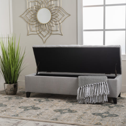 Charleston Tufted Storage Ottoman