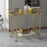 Amaya Modern Iron and Glass Bar Cart