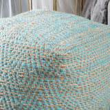 Ada Hand-Crafted Boho Fabric Cube Pouf