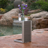 Crested-Bay Modern Aluminum C-Shaped End Table