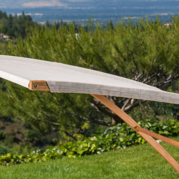Bayard Outdoor Off White Sunbed With Adjustable Canopy