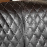 Kasey Harlequin Pattern Leather Club Chair