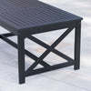 Ismus Outdoor Finished Acacia Wood Coffee Table
