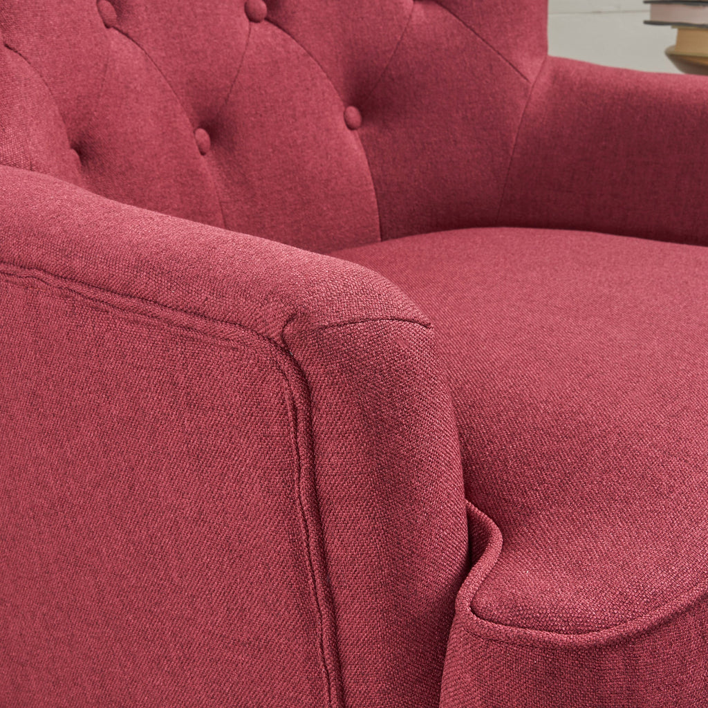 Annelia Contemporary Button Tufted Upholstered Fabric Club