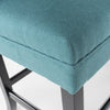 Paddy Tufted Back Fabric 26-Inch Barstool Bench