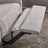 Callade Buttoned Fabric Reclining Loveseat Gdf Studio