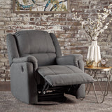 Jemma Tufted Fabric Swivel Gliding Recliner Chair