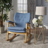 Whitman Mid Century Fabric Rocking Chair