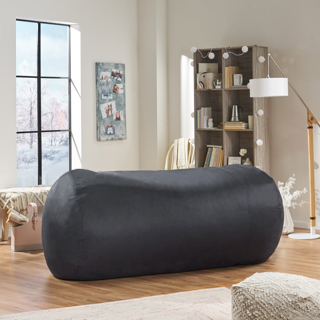 David 8 Foot Faux Microfiber Bean Bag