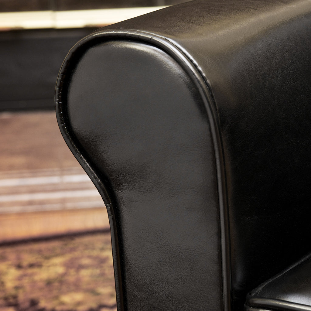 Larkspur Leather Club Chair