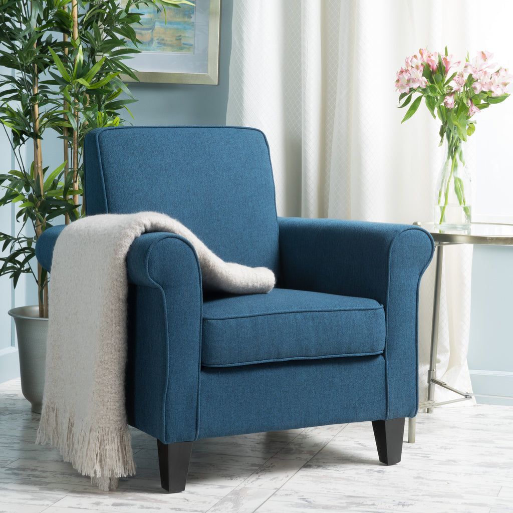 Declan Padded Fabric Club Chair Gdf Studio