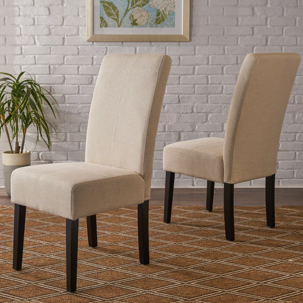 Araducan Beige Fabric Dining Chair (Set of 2)