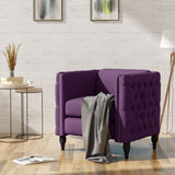 Alice Modern Tufted Fabric Armchair