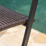 Marinelli Outdoor Multibrown Wicker Barstools (Set of 4)