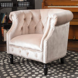 Aries New Velvet Tub Style Club Chair