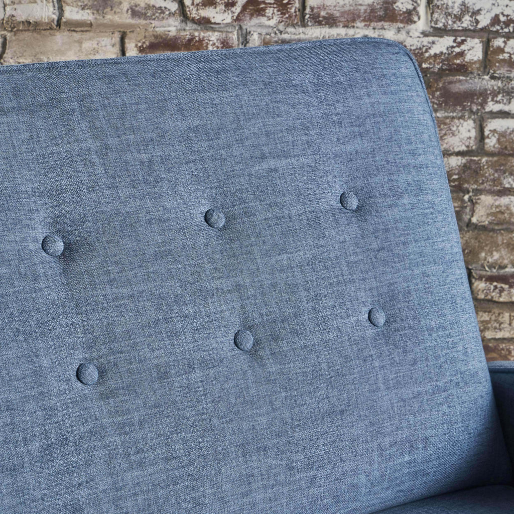 Callade Buttoned Fabric Reclining Loveseat