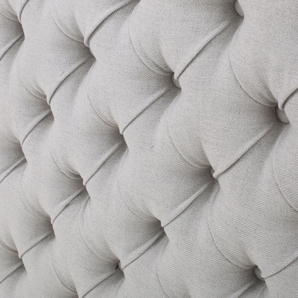 Brunet Contemporary Button Tufted Fabric Queen/Full Headboard