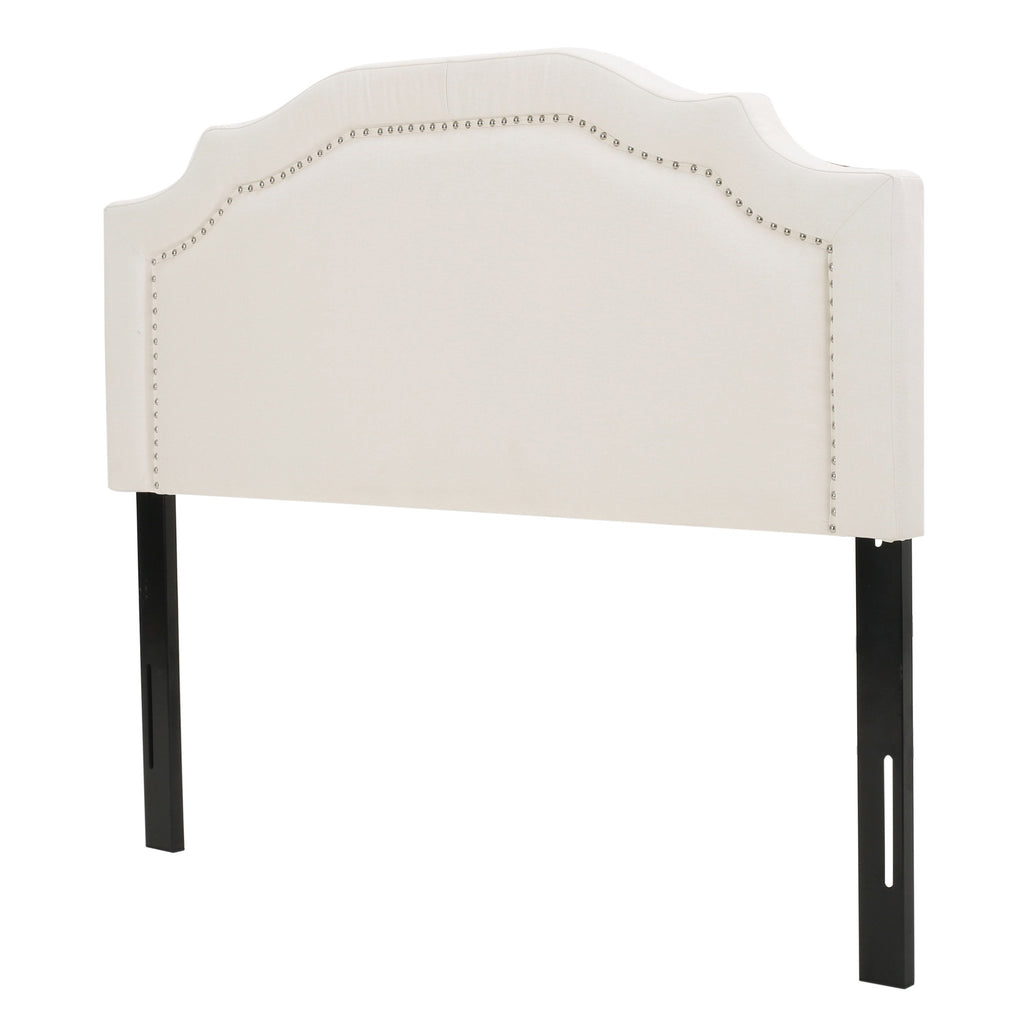 Kiera Ivory Fabric Queen/ Full Headboard