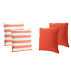 La Jolla Outdoor Striped Water Resistant Square Throw Pillows - Set of 4