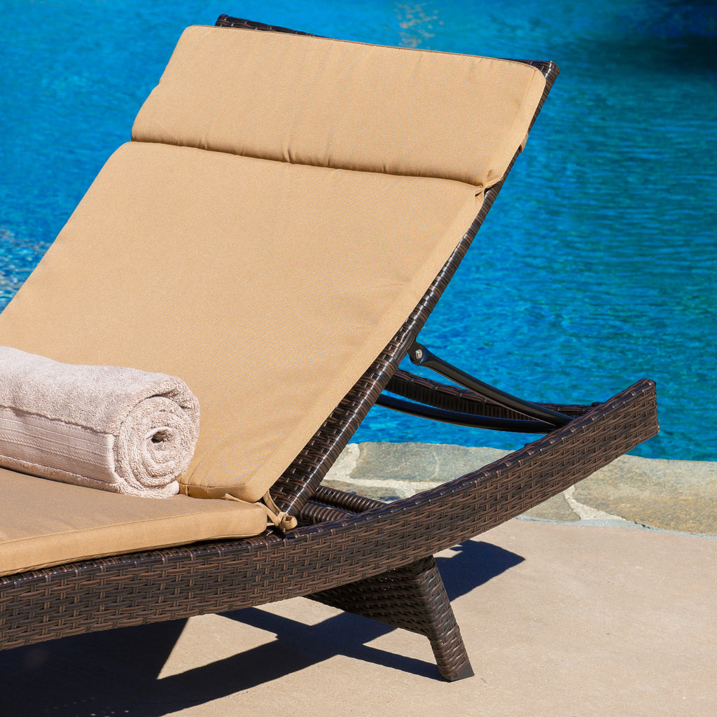 Soleil Outdoor Water Resistant Chaise Lounge Cushion