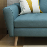 Angelica Mid Century Tufted Fabric Sofa