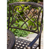 Paris Outdoor 3pc Copper Cast Aluminum Bistro Set