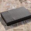 Thelma Contemporary Outdoor Mixed Mocha Woven Wicker End Table