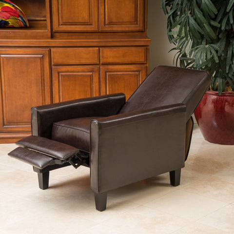 Incroyable Lucas Leather Recliner Chair