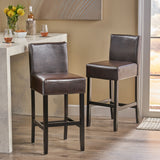 Lowry Leather 30-Inch Bar Stool (Set of 2)