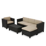 Venice 4-5-Seater Outdoor Sectional with Coffee Table