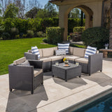 Venice 6-Seater Outdoor Sectional with Coffee Table
