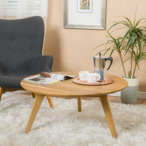 Mimaya Natural Stained Wood Coffee Table