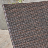 Eliana Outdoor Brown Wicker Adjustable Chaise Lounge Chair