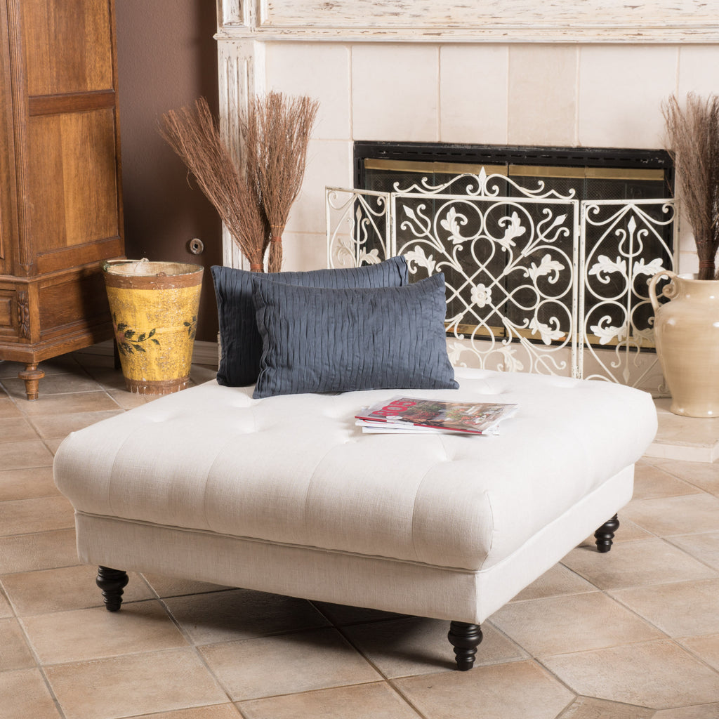 Parisian Fabric Ottoman Coffee Table