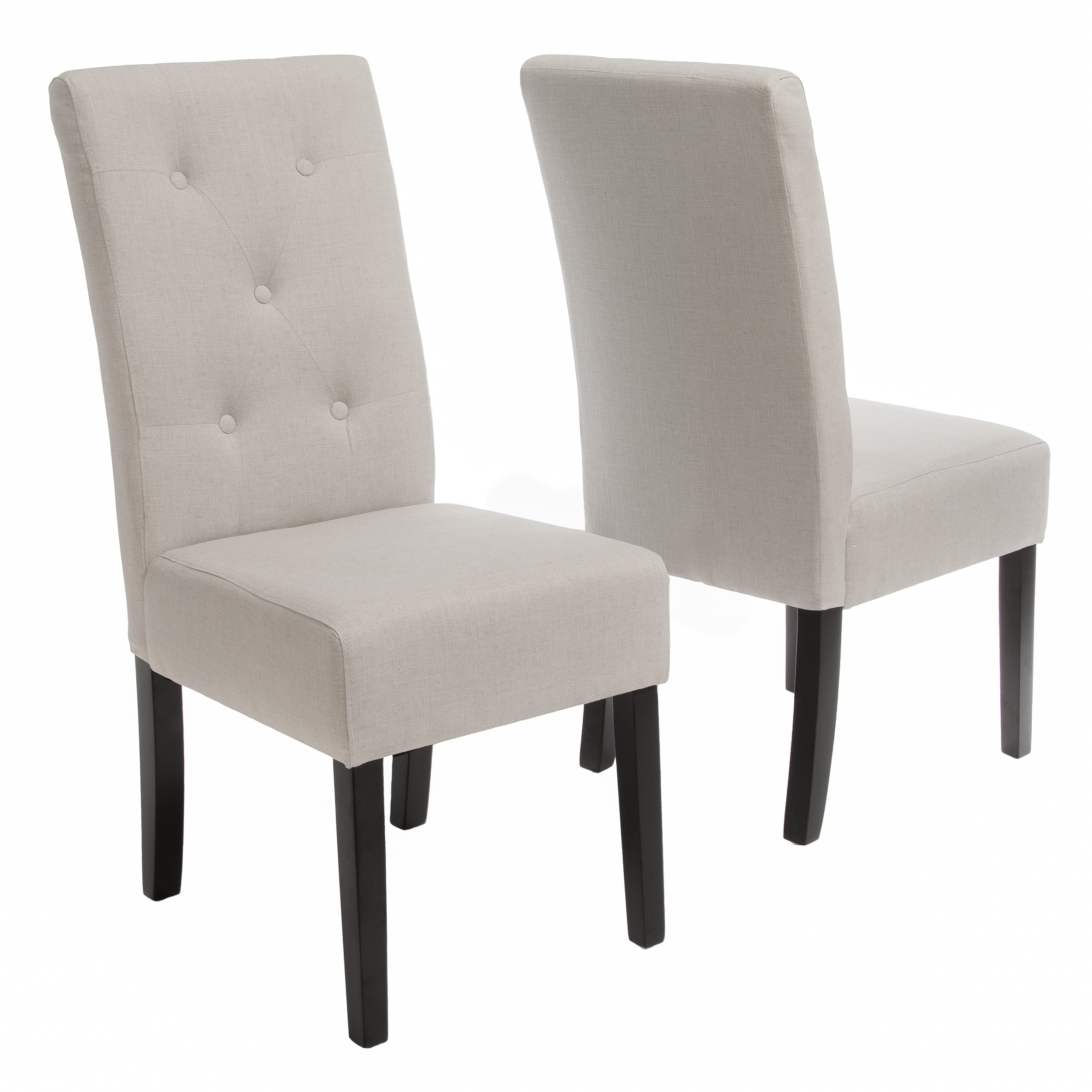 Alexander Natural Fabric Dining Chair Set of 2