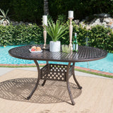 Clarisse Outdoor 7 Piece Dining Set with Expandable Aluminum Table