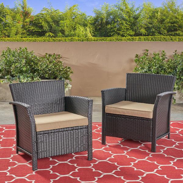 Tori Outdoor Wicker Club Chair (set of 2)