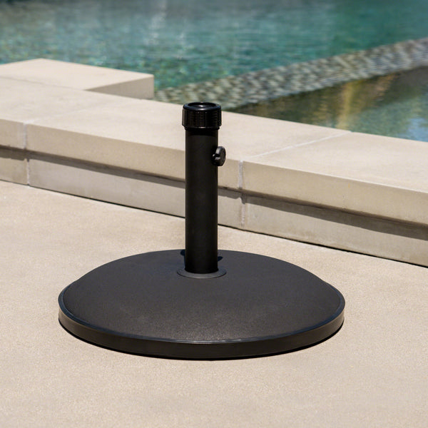 Gretna Round Black Concrete Umbrella Base