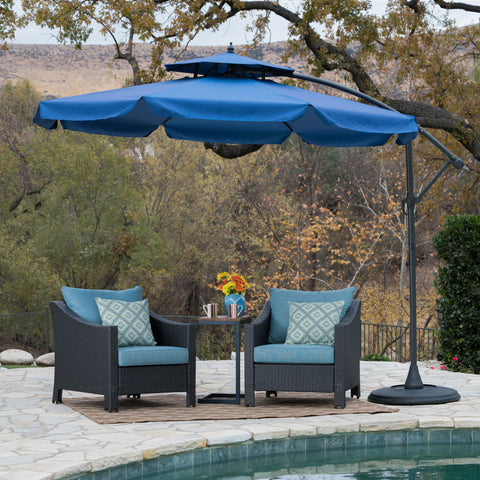 Balrey Outdoor Navy Blue Water Resistant Canopy Sunshade with Base