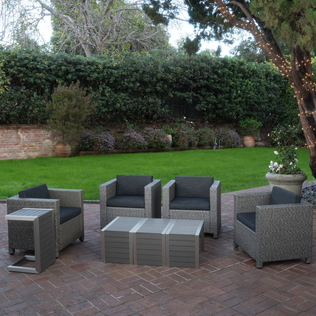 Venice 4-Seater Outdoor Chat Set with Side Tables