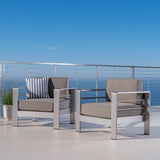 Coral Bay Outdoor Club Chairs w/ Water Resistant Cushions