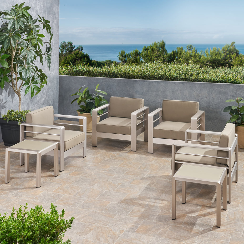 Scalett Coral Outdoor 4 Seater  Club Chair and Table Set