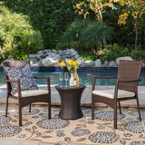 Mission Bay Outdoor Brown Wicker 3 Piece Chat Set