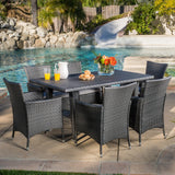Malta Outdoor 7pc Grey Dining Set