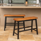 Toluca Saddle Wood 24-Inch Counter Dining Bench (Set of 2)