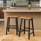 Toluca Saddle Wood 29-Inch Barstool (Set of 2)