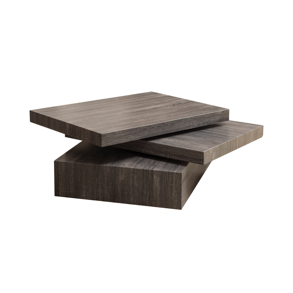 Haring Square Rotating Wood Coffee Table