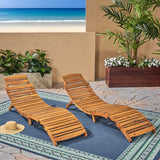 Lisbon Outdoor Wood Folding & Portable Chaise Lounge